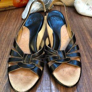 Soft Comfort Slingback Heels, size 8N, worn once!